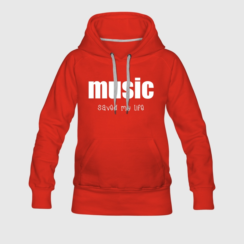 Music  Sweat-shirts - Sweat-shirt à capuche Premium pour femmes