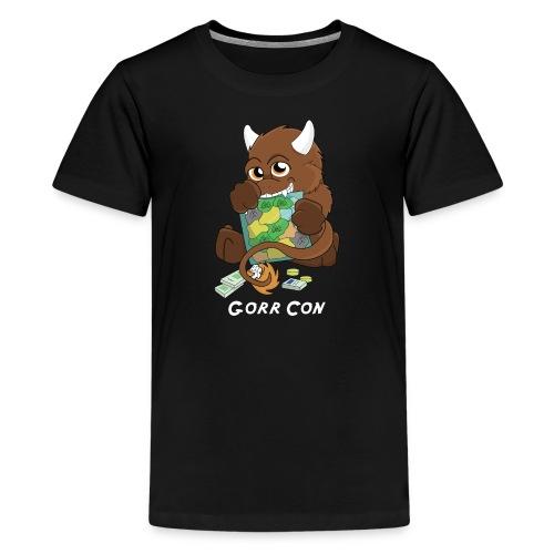 Gorr Con - Hvid logo - Teenager str - Teenager premium T-shirt