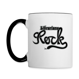 LIBRARIANS ROCK - Tvåfärgad mugg