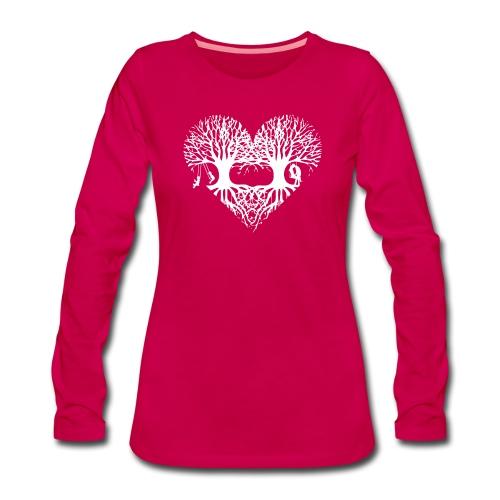 valentinstag herz liebe baum paar wurzeln schaukel T-Shirts - Frauen Premium Langarmshirt