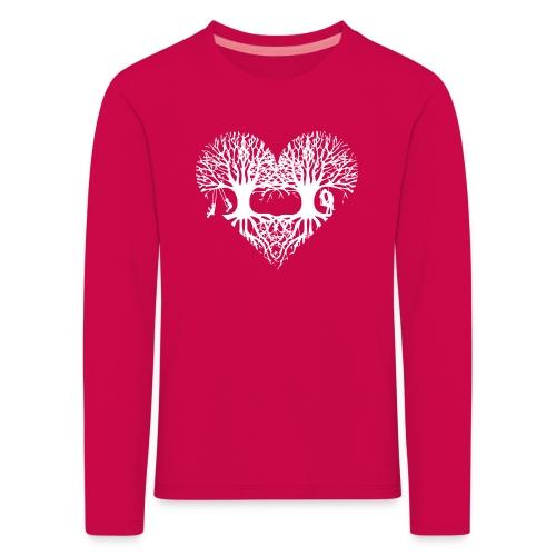 valentinstag herz liebe baum paar wurzeln schaukel T-Shirts - Kinder Premium Langarmshirt