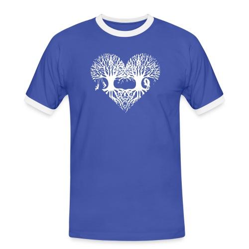 valentinstag herz liebe baum paar wurzeln schaukel T-Shirts - Männer Kontrast-T-Shirt