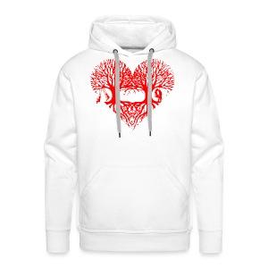 valentinstag herz liebe baum paar wurzeln schaukel T-Shirts - Männer Premium Hoodie