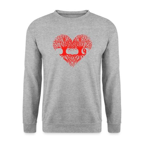 valentinstag herz liebe baum paar wurzeln schaukel T-Shirts - Männer Pullover