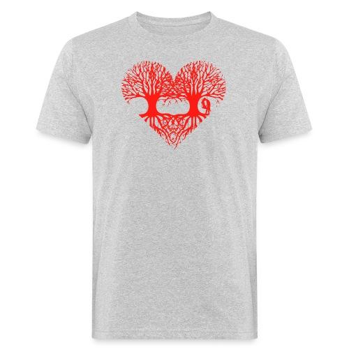 valentinstag herz liebe baum paar wurzeln schaukel T-Shirts - Männer Bio-T-Shirt