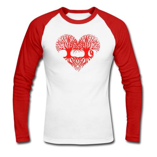 valentinstag herz liebe baum paar wurzeln schaukel T-Shirts - Männer Baseballshirt langarm