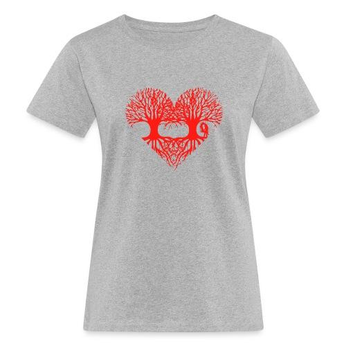 valentinstag herz liebe baum paar wurzeln schaukel T-Shirts - Frauen Bio-T-Shirt