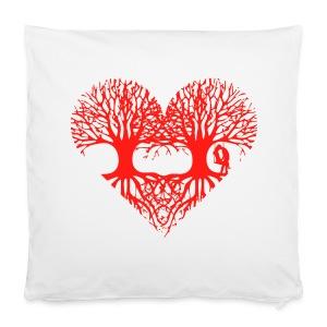 valentinstag herz liebe baum paar wurzeln schaukel T-Shirts - Kissenbezug 40 x 40 cm