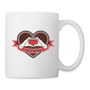 Hand Heart (Brown) Je t'aime - Tasse