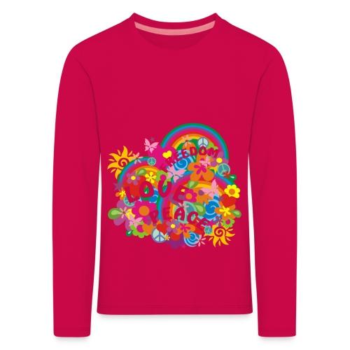 Camiseta chica arcoiris - Camiseta de manga larga premium niño