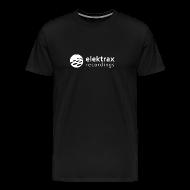 T-Shirts ~ Men's Premium T-Shirt ~ Elektrax Recordings label t-shirt. White Logo