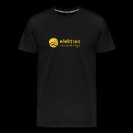 T-Shirts ~ Men's Premium T-Shirt ~ Elektrax Recordings label t-shirt. Yellow Logo