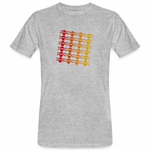 Totenkopf Muster - Männer Bio-T-Shirt