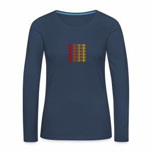 Totenkopf Muster - Frauen Premium Langarmshirt