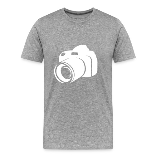 Camera-grey - Herre premium T-shirt