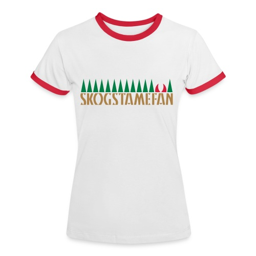 SKOGSTAMEFAN T-shirts - Kontrast-T-shirt dam