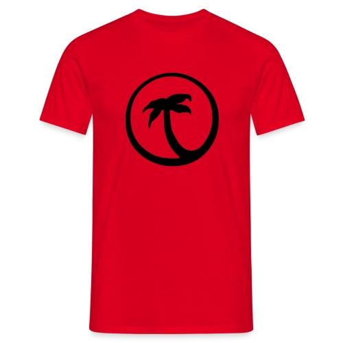 Palme (rot) - Männer T-Shirt