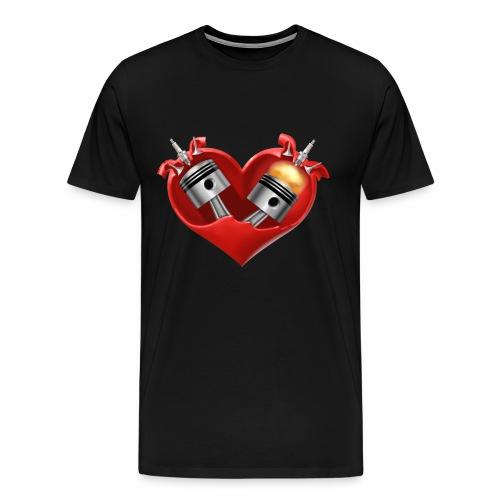 Biker's Heart - Men's Premium T-Shirt
