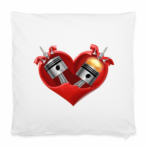 Biker's Heart Pillowcase - Pillowcase 40 x 40 cm