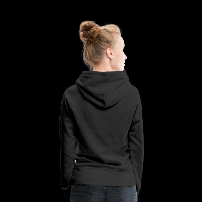 Dames Sweater met Capuchon (Witte Logo)