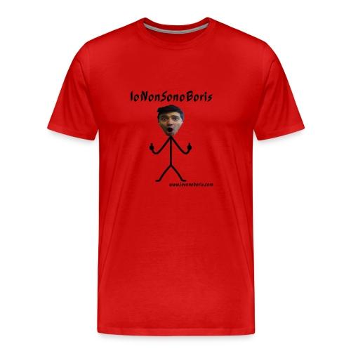 T-shirt uomo girocollo IoNonSonoBoris - scritta nera - Maglietta Premium da uomo