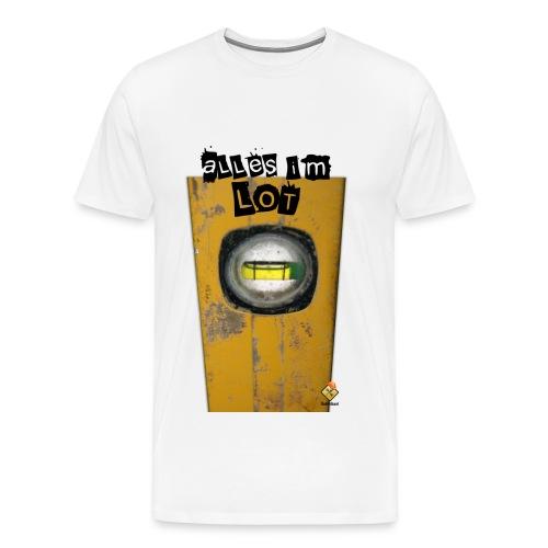 Pfusch am Bau T-Shirt - Alles im Lot - Männer Premium T-Shirt