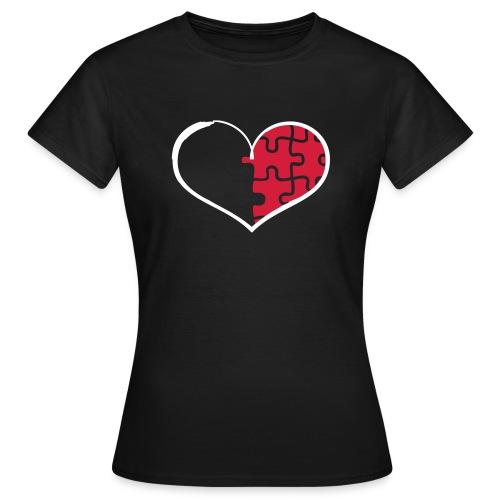 Half Heart - Right (Flex Print) - Women's T-Shirt