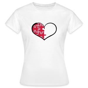 Half Heart - Left (Flex Print) - Women's T-Shirt