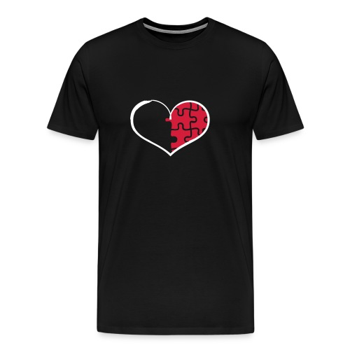 Half Heart - Right (Flex Print) - Men's Premium T-Shirt