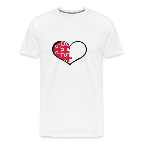 Half Heart - Left (Flex Print) - Men's Premium T-Shirt