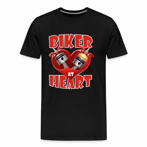 Biker at Heart - Men's Premium T-Shirt