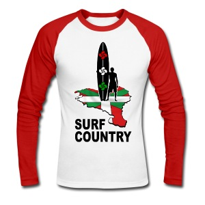 Pays Basque - surf country - Men's Long Sleeve Baseball T-Shirt