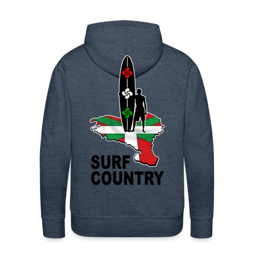 Pays Basque - surf country - Men's Premium Hoodie