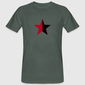 Anarchy Star Rebel Revolution Fight Left Red Black T-Shirts - Men's Organic T-shirt