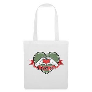 heart-green I love you - Stoffbeutel