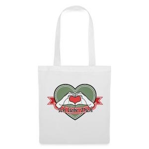 heart-green Ich liebe Dich - Stoffbeutel