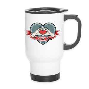 heart-blue I love you - Thermobecher