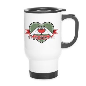 heart-green Tá grá agam duit - Thermobecher