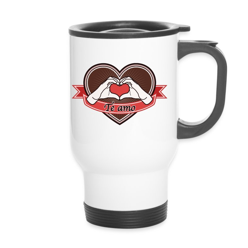 heart-brown Te amo - Thermobecher