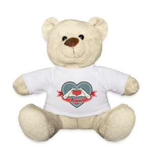 heart-blue Te amo - Teddy