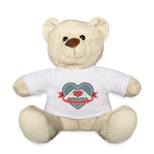 heart-blue Je t'aime - Teddy