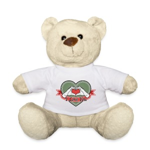 heart-green I love you - Teddy