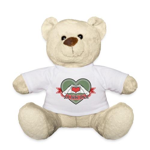 heart-green Ich liebe Dich - Teddy