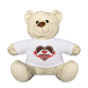 heart-brown Te amo - Teddy