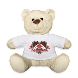 fingeralphabet heart-brown Tá grá agam duit - Teddy