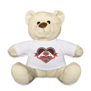 heart-brown Je t'aime - Teddy