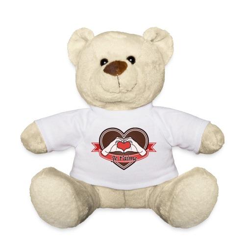 heart-brown Je t'aime - Teddy