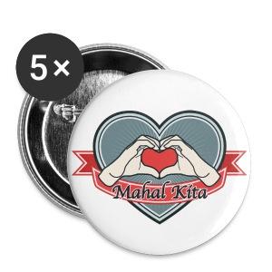 heart-blue Mahal kita - Buttons groß 56 mm