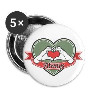 heart-green Always - Buttons groß 56 mm