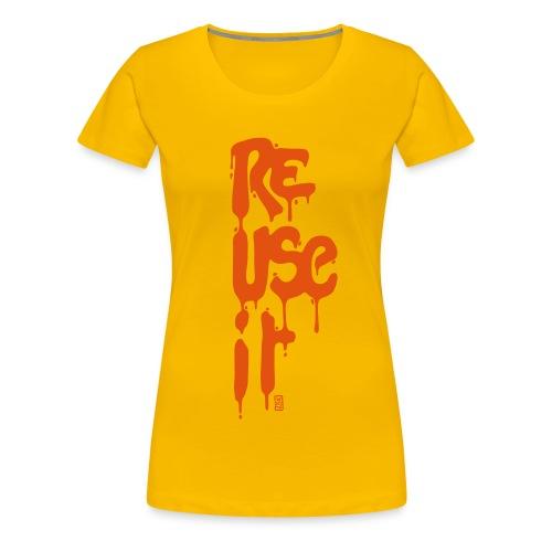 Tee-shirt femme ReUseit - T-shirt Premium Femme